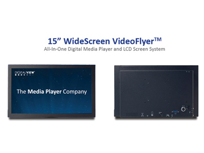 Digital View All-in-one 15 inch Video Flyer