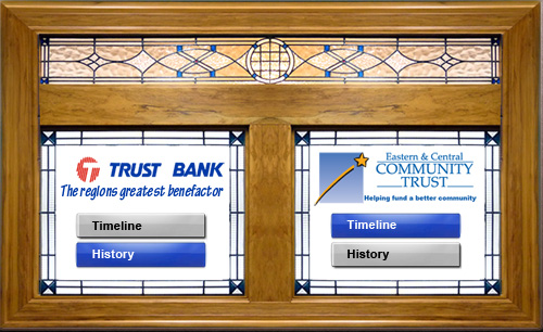 Trust Bank Interactive Touchscreen