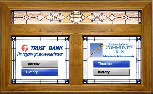 Trust Bank Interactive Touchscreen
