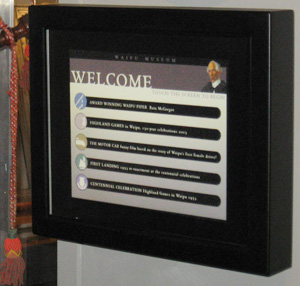 Waipu Museum Touchscreen Exhibit