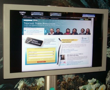 "WebTouch operating 40"" touchscreen"
